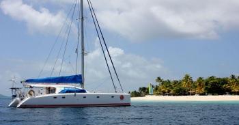BARAKA At Anchor at Palm Island