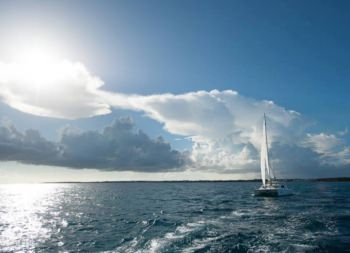 MOJITO (CAT) Sailing at Dawn - first to the beach!
