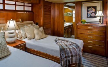 SYRENE Twin Guest cabin can convert to Queen