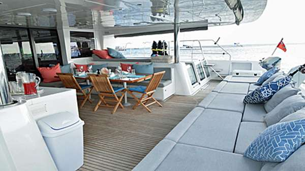 AMAZING Spacious aft lounge and dining area