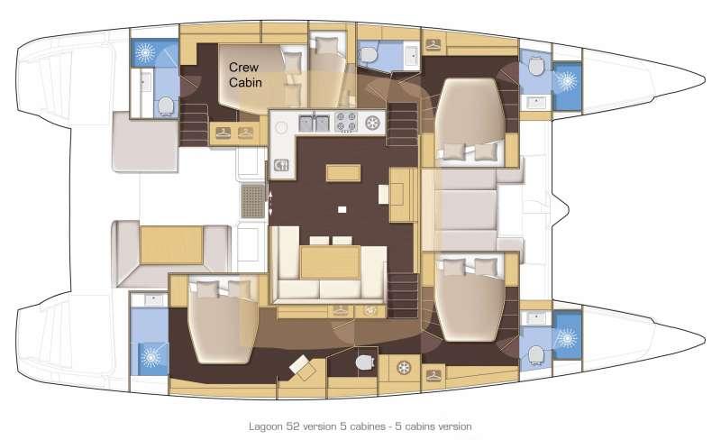 LAGOON 52's layout