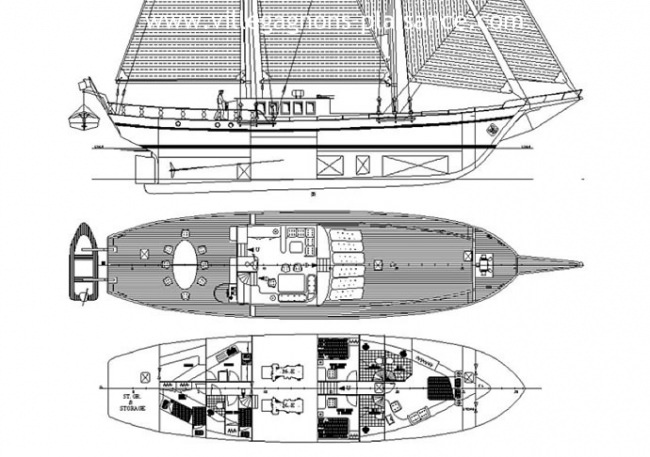 S/Y SMART SPIRIT I's layout