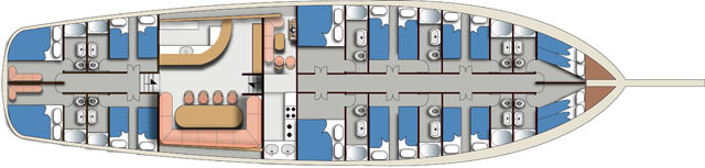 AEGEAN CLIPPER's layout