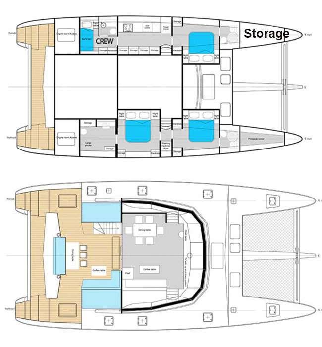 Euphoria 60 Yacht Charter Catamaran Ritzy Charters