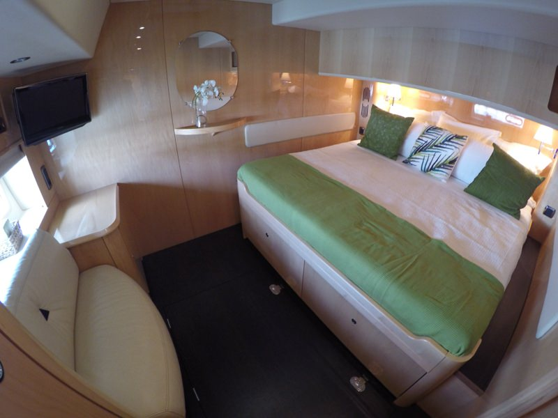 Two identical king size guest cabin with in suite shower and head