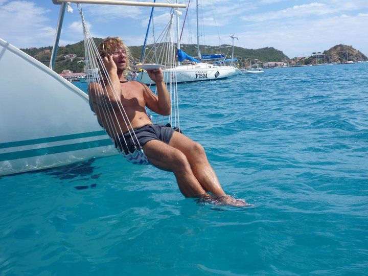 Hammock off the stern