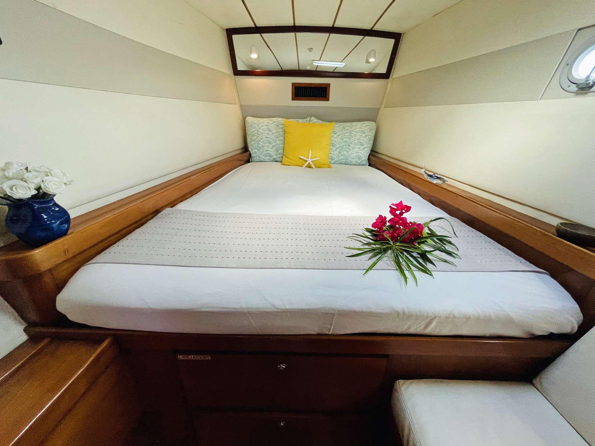 An aft guest suite