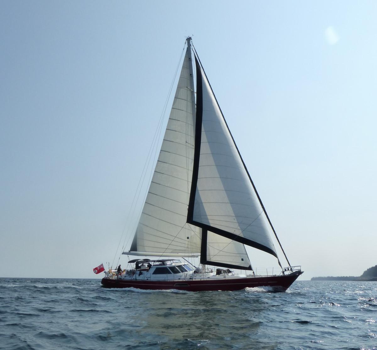 MUSTANG Under Full Sail