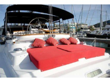 Stern lounging area & helm