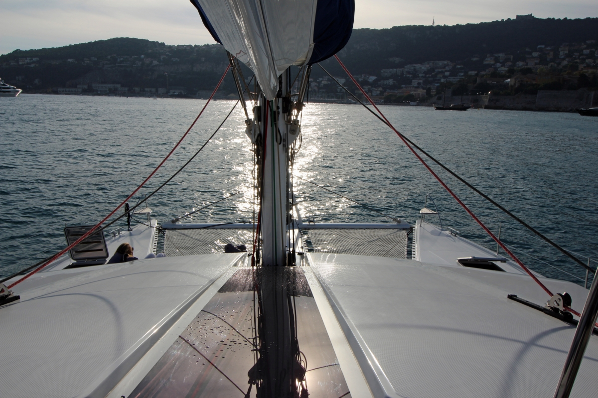 View from the bow