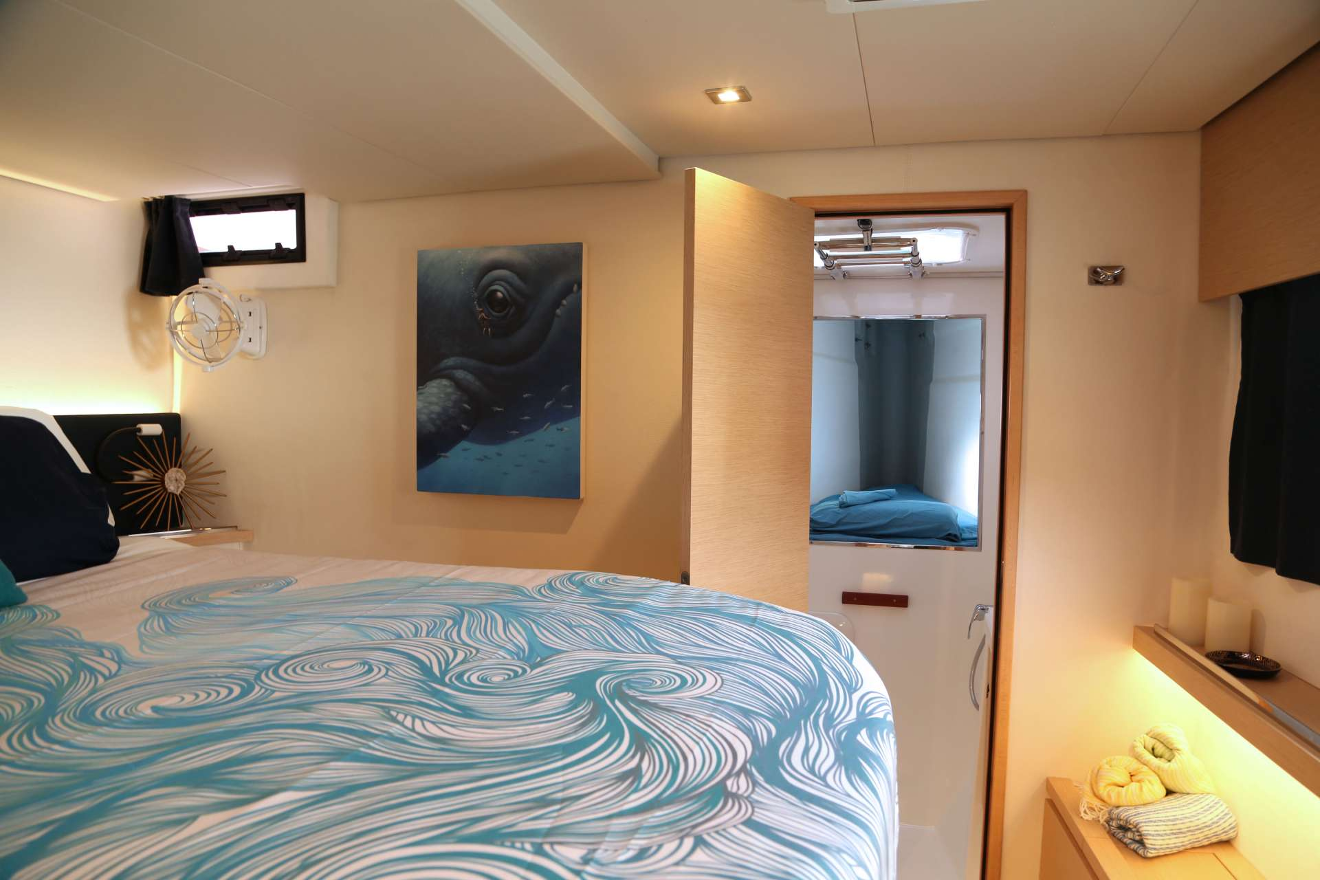 Starboard forward guest cabin