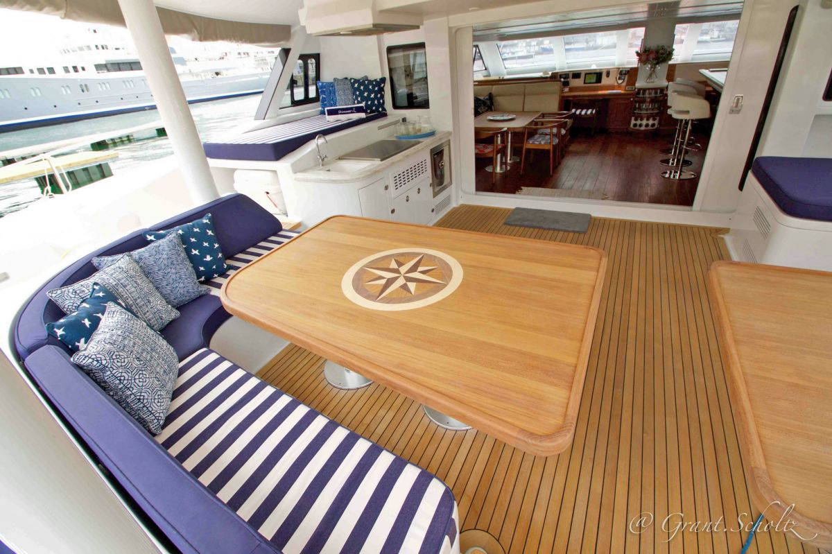 Aft deck leading into Salon