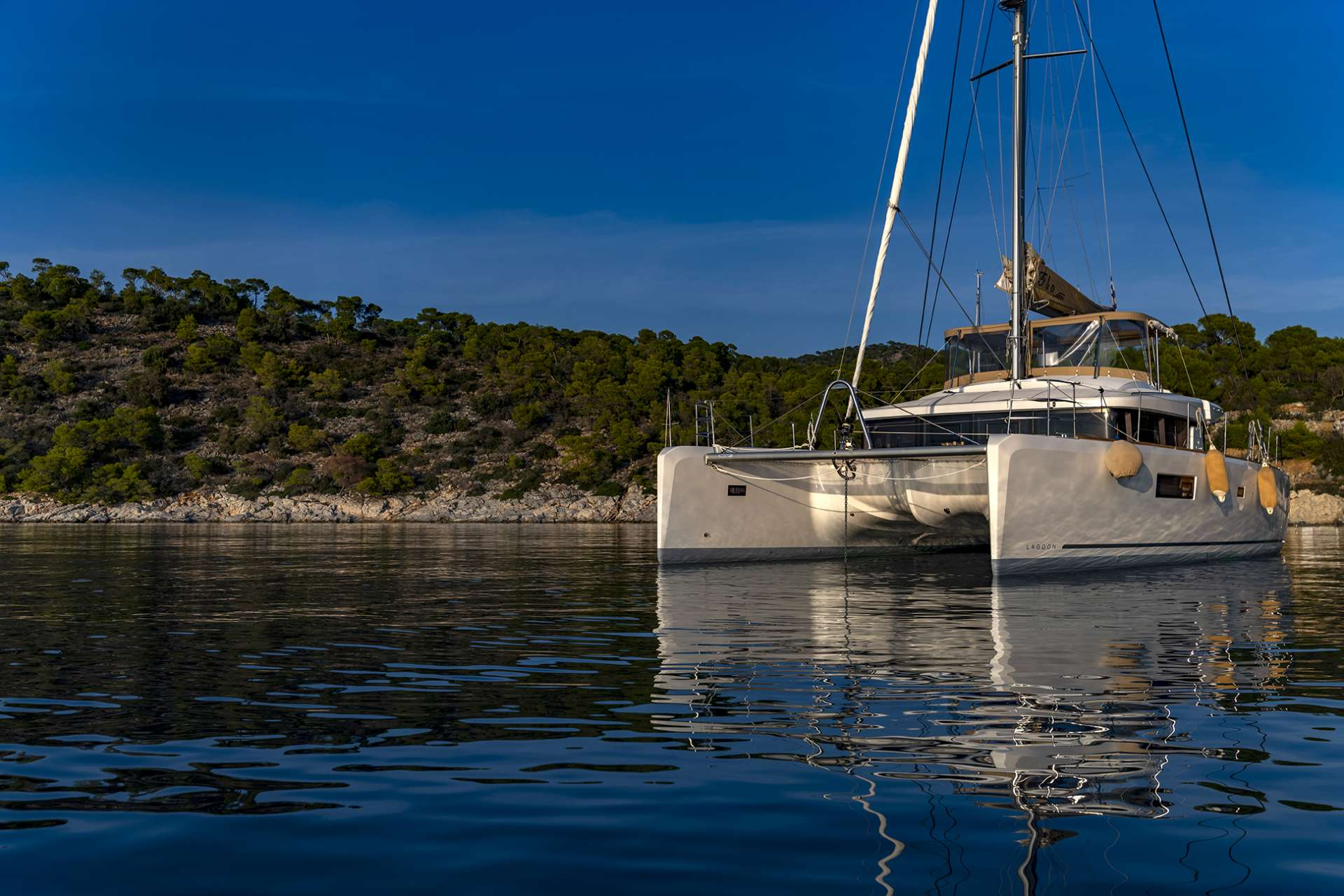 Sailing yacht catamaran