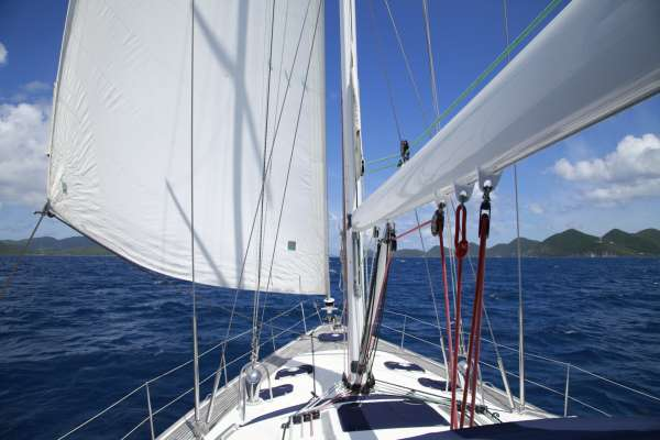 Sayang under sail