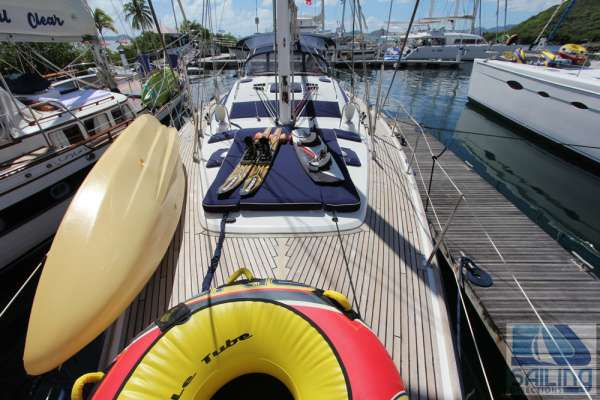 Water sports gear on the bow