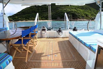 Aft deck area