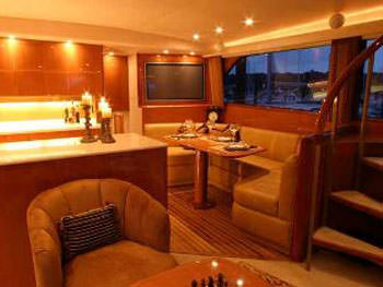 Galley and Dining Salon