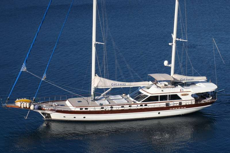 GETAWAY is one of the best sailing yachts available for charter in the Eastern Mediterranean and off