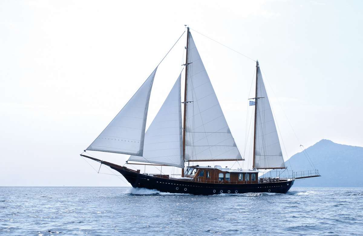 Liana H - An extremely beautiful Greek wooden motor sailer that combines latest technology with trad