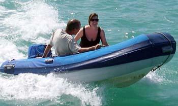 Fun aboard the dinghy