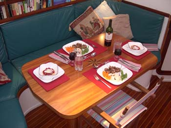 Dine below decks