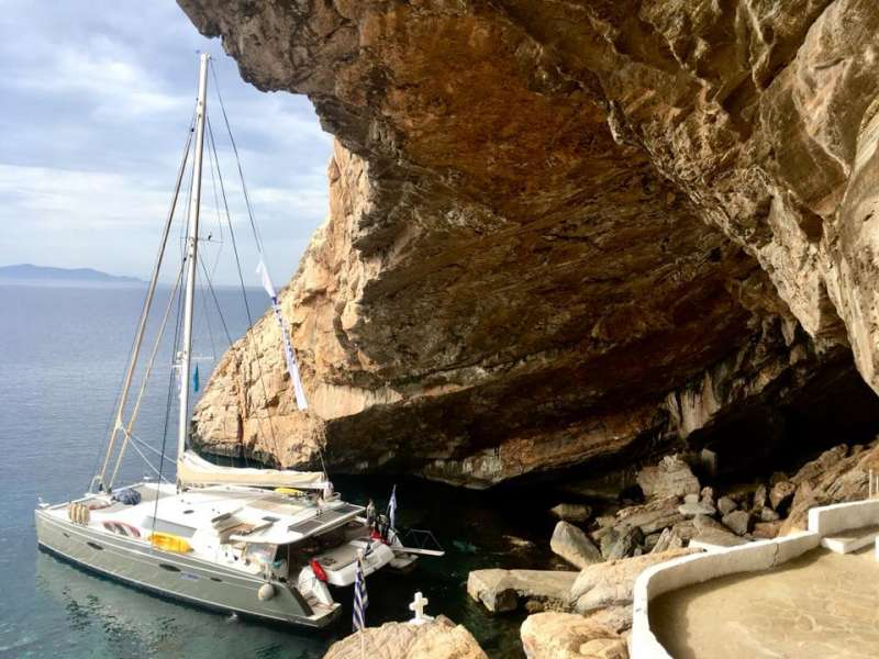 The sailing catamaran WORLD'S END will bring you to the most beautiful places in the  Mediterranean