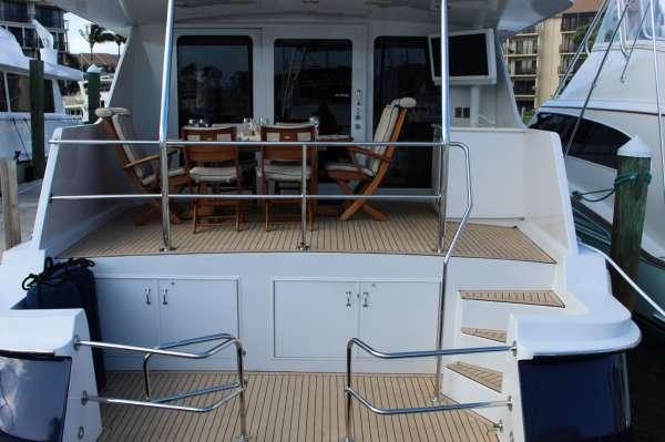 aft swim platform with new decking