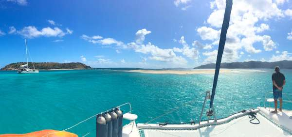 Anchoring off Sandy Spit, Jost Van Dyke