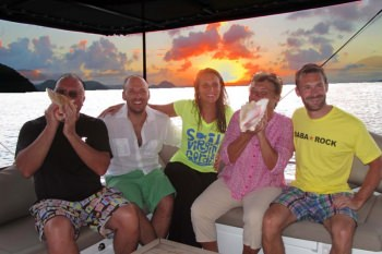Blowing the Conch at Sundown