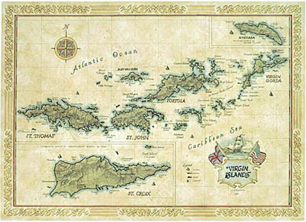 Complementarily BVI and USVI map