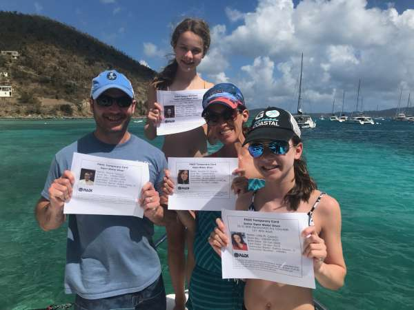 Newly certified divers!