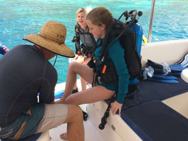 Discover scuba with kids