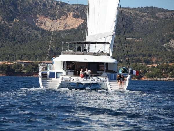 Lady M at Sail