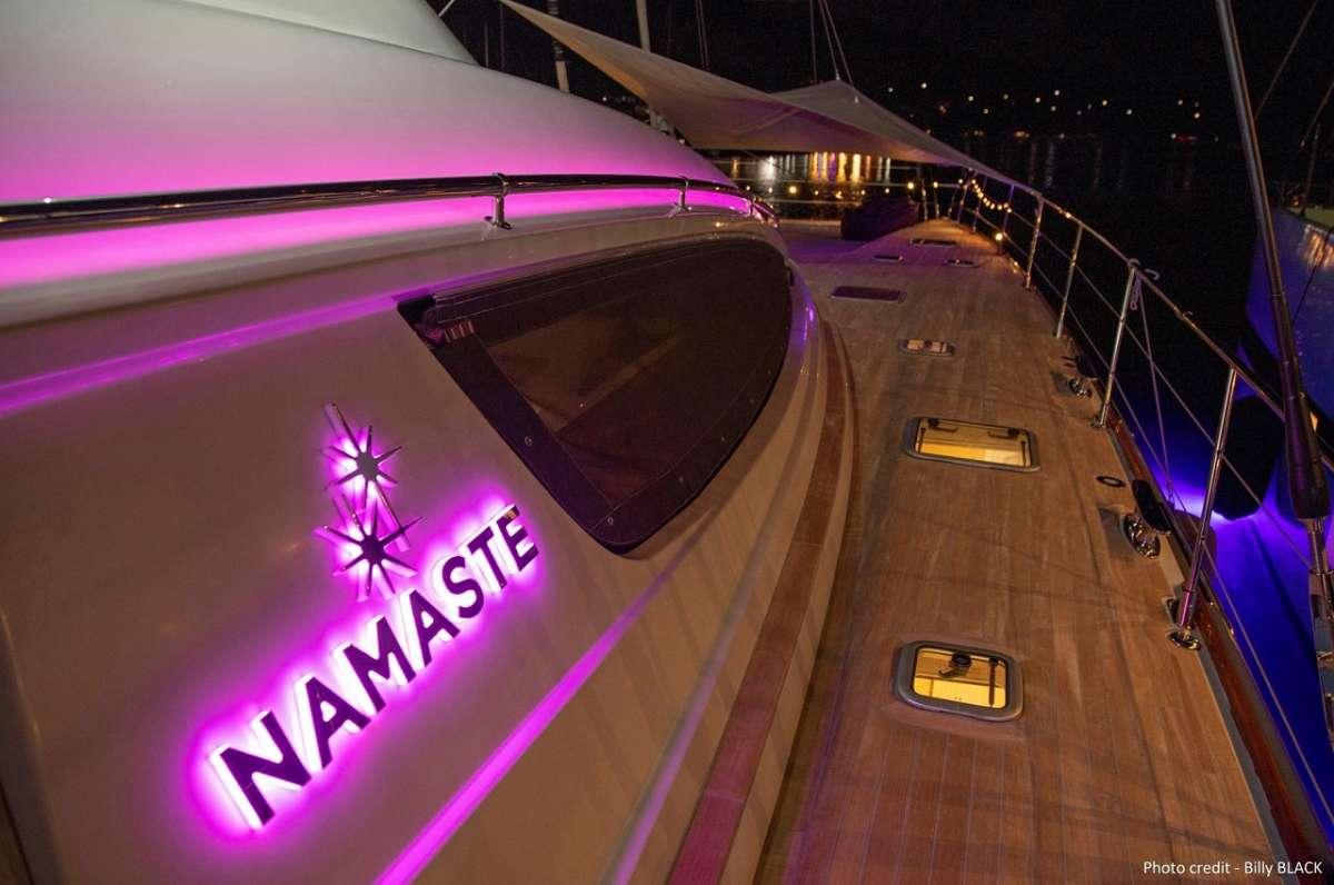 On deck at night