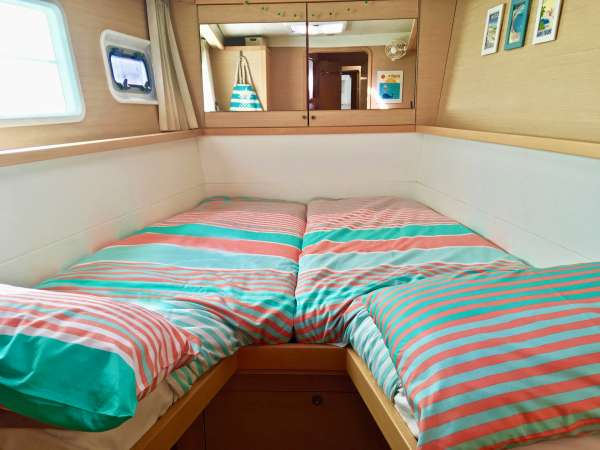 Port Forward Cabin made up as 2 Twins