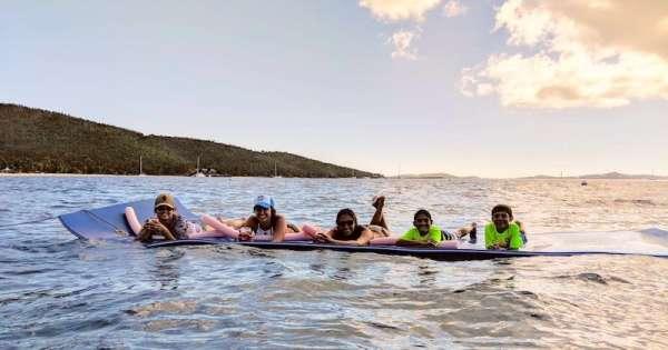 Kids enjoying the Jumbo Floatie
