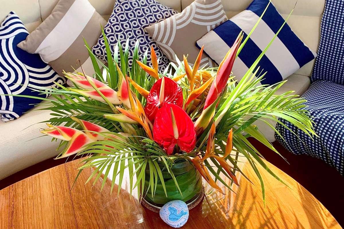 Beautiful linens in cabins - Queen port aft