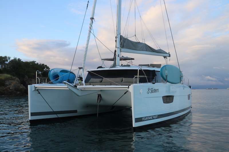 This yacht is spacious and comfortable both inside and out, and it's no slouch under sail.