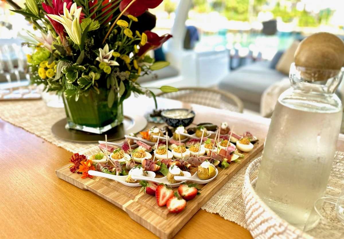 Cozy seating area forward of salon