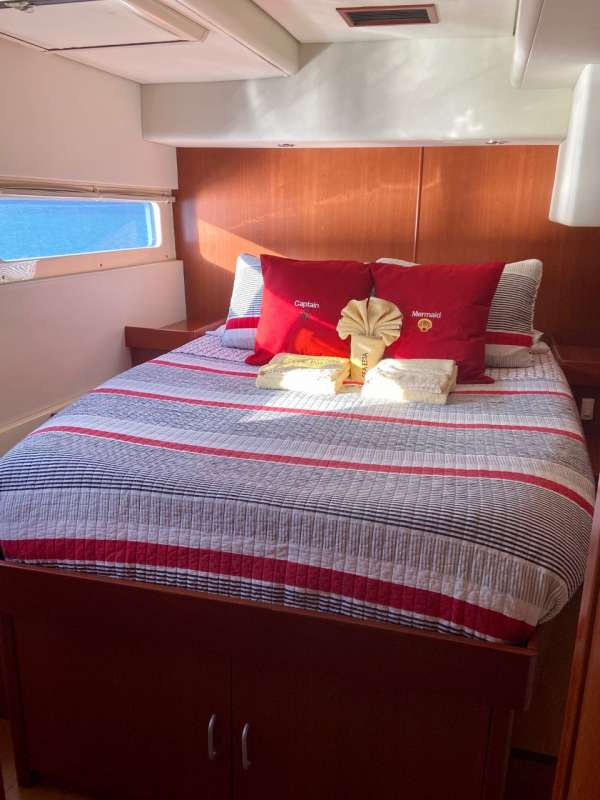 One of two main deck staterooms, with direct access to forward patio.