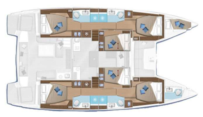 Adriatic Leopard (lagoon 50) Layout