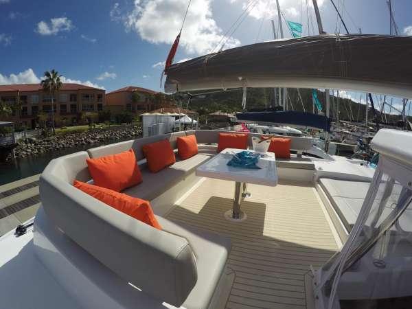 Top flybridge seating 360 degree view!
