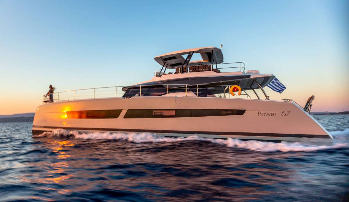 ChristAl MiO combines all the strengths of a power catamaran with Fountaine Pajot's extensive