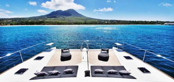 Enjoy the Caribbean views from Mare Blu