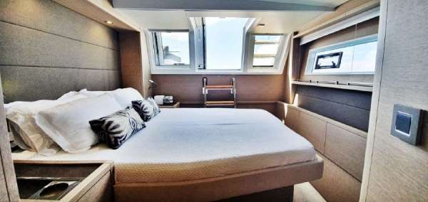 Aft Guest cabin with access to aft deck