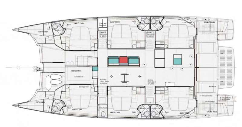 VOYAGE 650 Power Cat LAYOUT