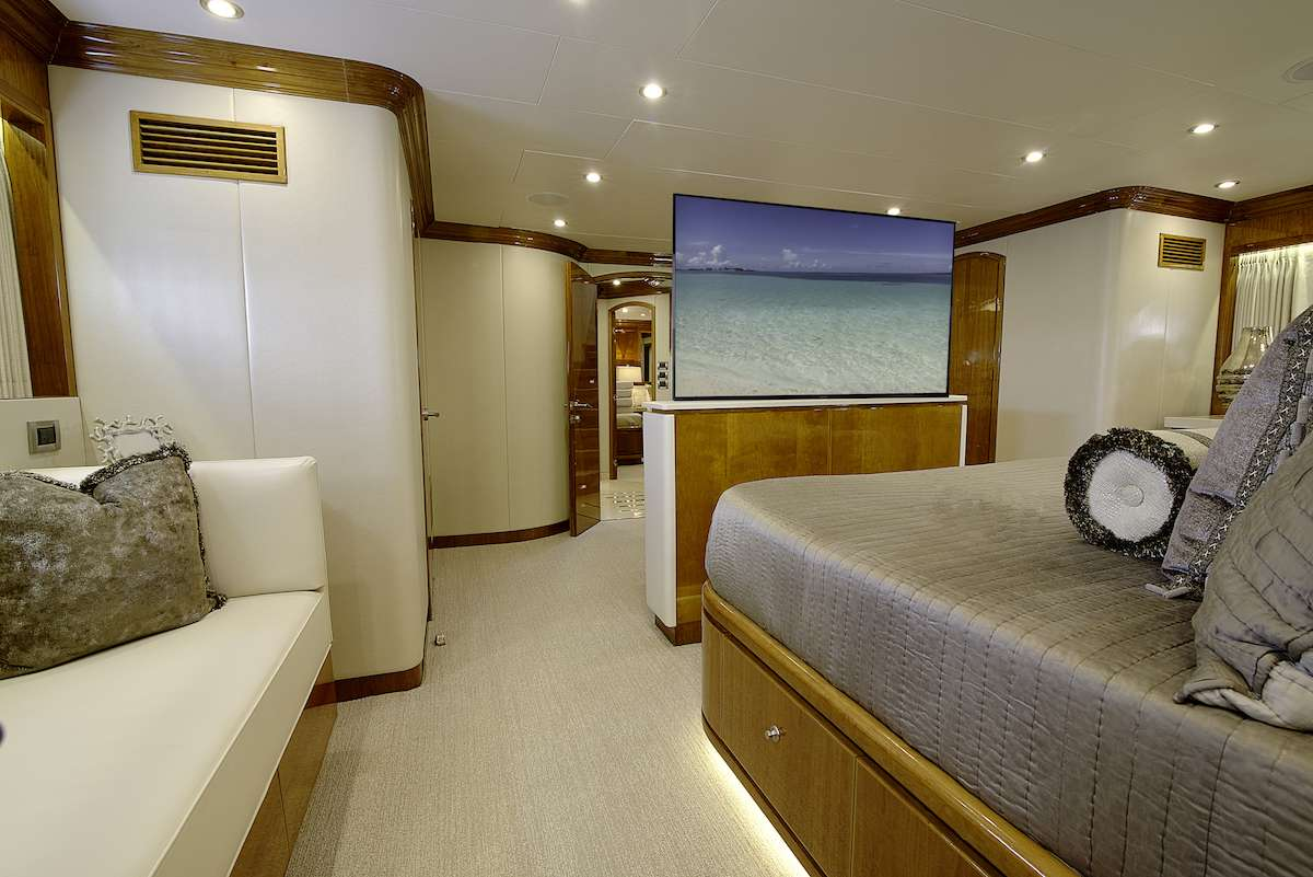 Master Stateroom with TV up