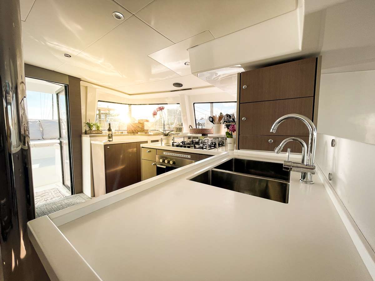 Stylish and elegant galley - where the magic happens!