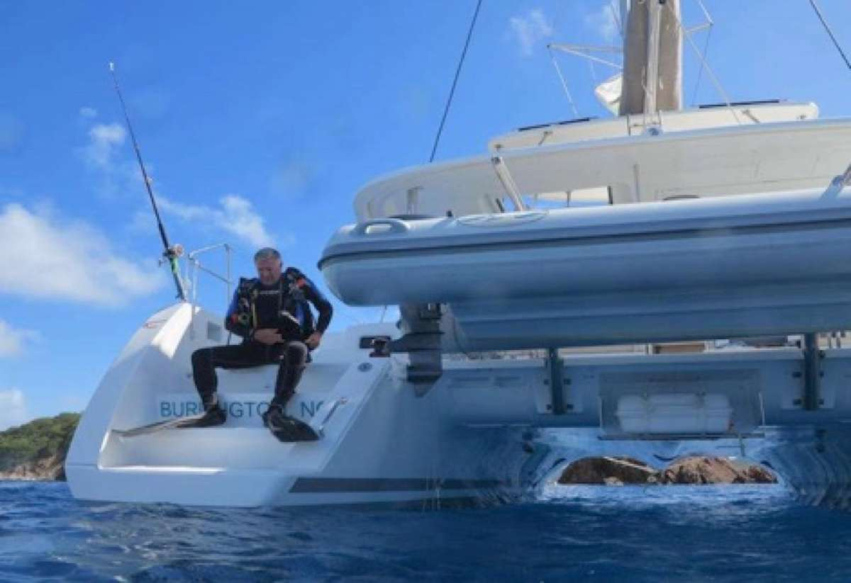 Activities off the stern
