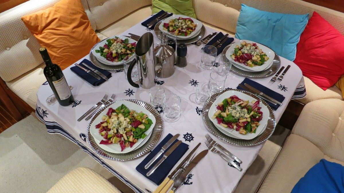 Dinner on Aft Deck